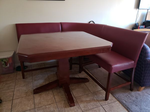 Dining Table With Three Booth Style Chairs