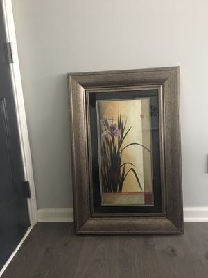 "Large wooden framed wall art 25""wide x37"" tall for Sale in Apex, NC"