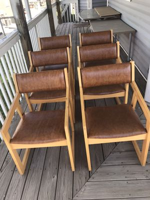 Photo 6 dinner or hofice strong chairs solid wood 4 very good condition 2 a small scratch on the seat $ 100 for all, firm price