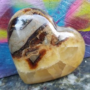 Septarian {or dragon's egg} Crystal Heart for Sale in Seattle, WA