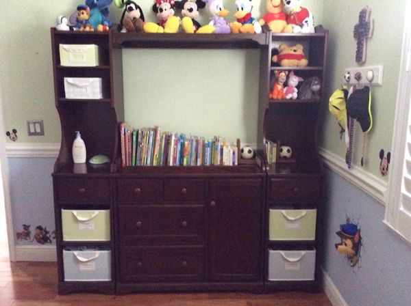 Pottery Barn Madison Changing Table System Wall Unit Bookcase for ...