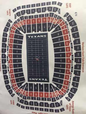 Texans Tickets with yellow parking pass for Sale in Houston, TX