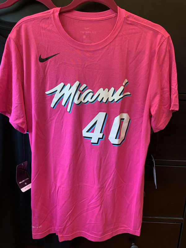 ef0acbc05d0 Udonis Haslem Miami Heat Pink Vice Nike Name and Number Shirt for Sale in  Cooper City