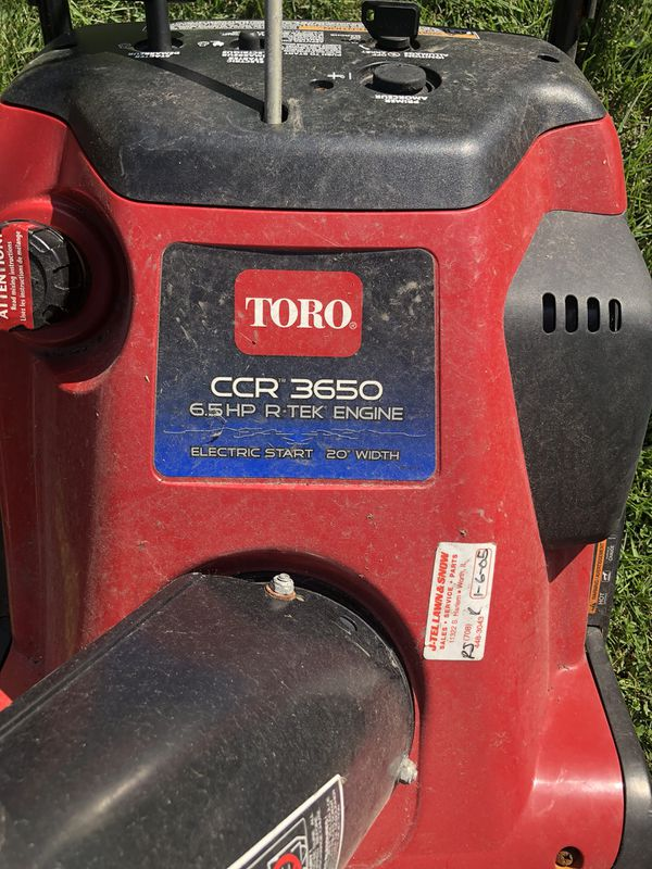 Toro Ccr 3650 Electric Start Snow Blower For Sale In Evergreen Park