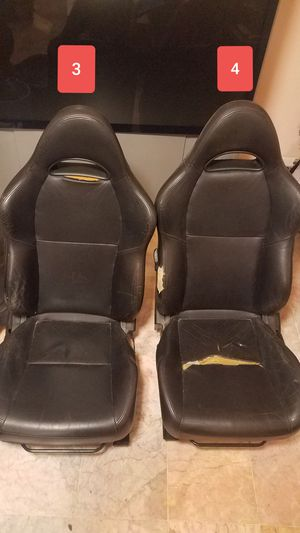 For Sale 02-04 RSX Leather Seats (2 Pairs) Selling as pair only - $150 RSX rear seats, Top end only- Mint condition, no rips for Sale in West Springfield, VA