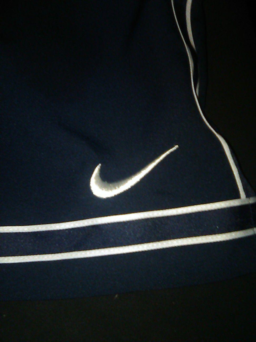 Nike shorts dri fit mens xxl navy blue white no pockets