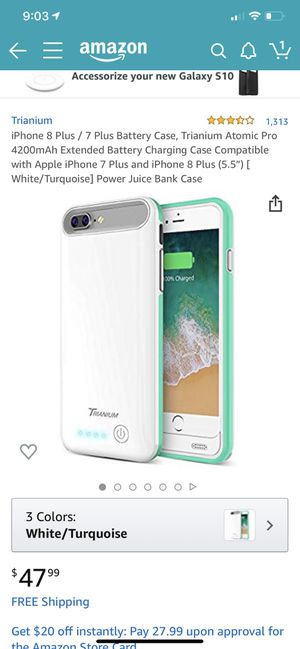 the best attitude ee3c1 3604b iPhone 8 Plus / 7 Plus Battery Case, Trianium Atomic Pro 4200mAh Extended  Battery Charging Case Compatible with Apple iPhone 7 Plus and iPhone 8 Plus  ...