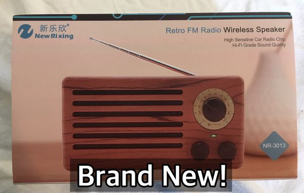 Retro FM Radio/Wireless Speaker with Bluetooth and AUX for Sale in Fort  Knox, KY - OfferUp