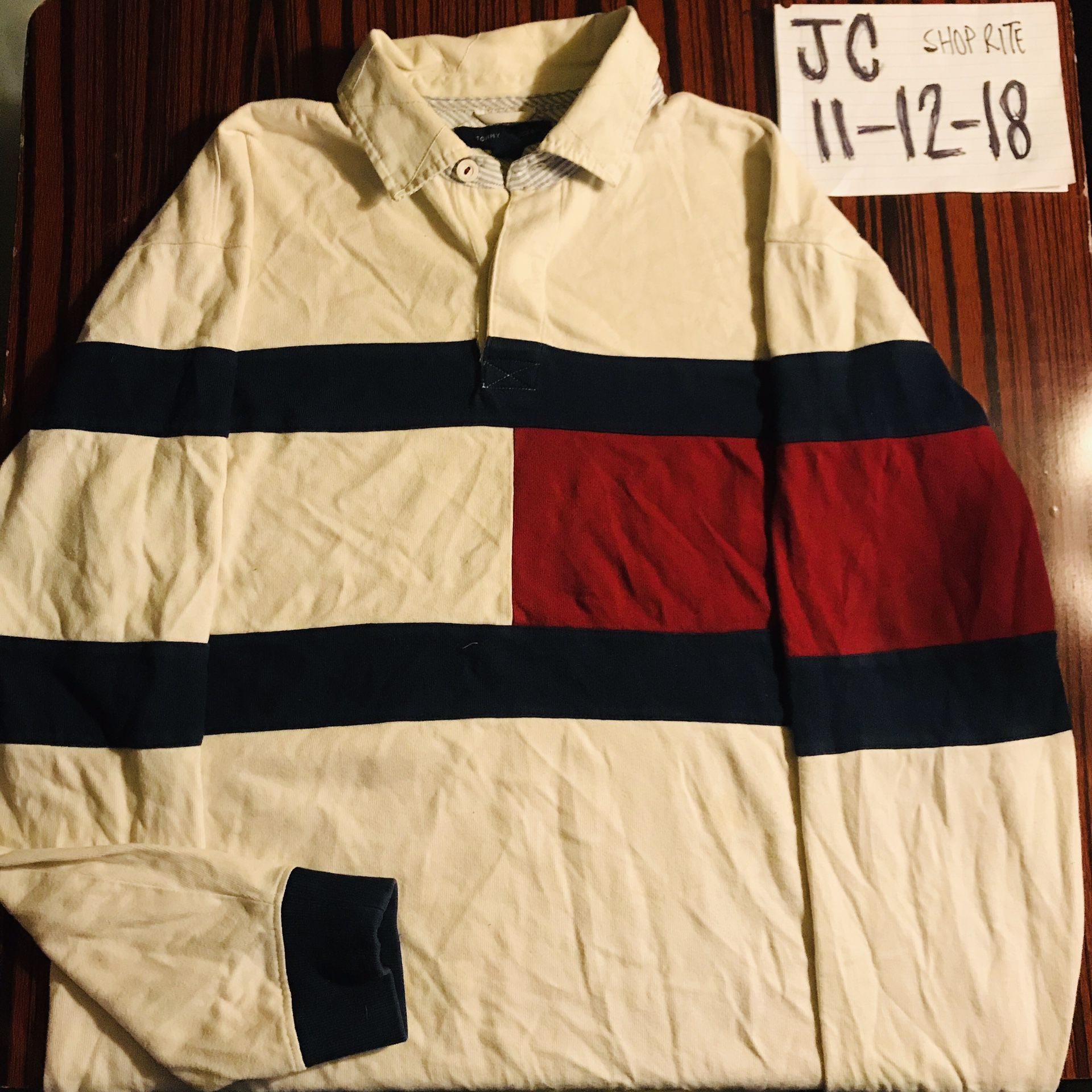 Vintage Tommy Hilfiger Rugby polo longsleeve size L
