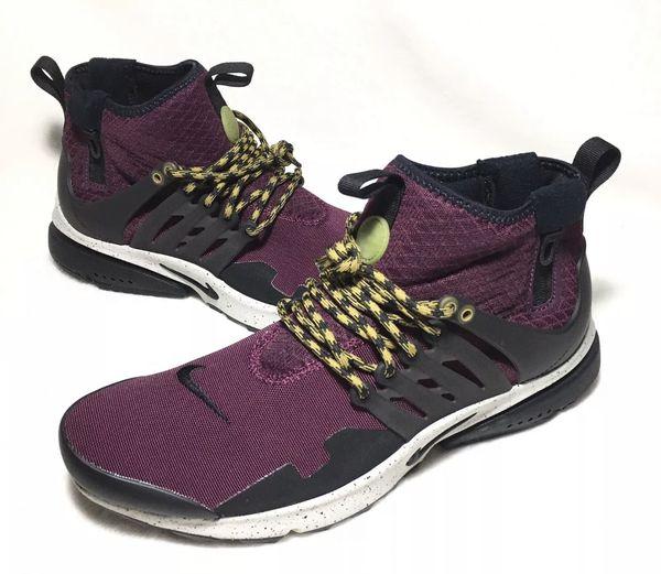 130ac452107d Nike Mens Air Presto Mid Utility Bordeaux Black Gray Shoe Size 10 ...