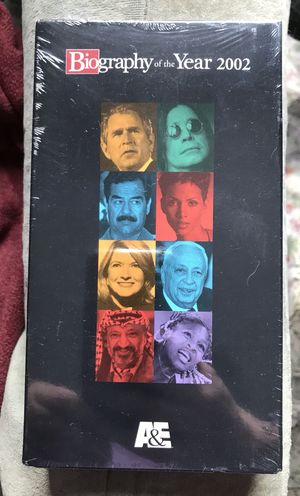 A&E Biography of the Year 2002 VHS tape for Sale in Queens, NY
