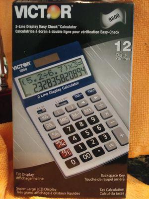 (VICTOR)Easy Check Two‑Line Calculator for Sale in Dallas, TX