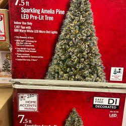 7-5 Ft Sparkling Amelia Pine Led pressure- Lit Tree Thumbnail