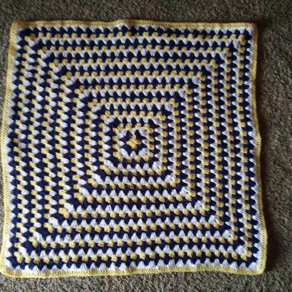 Crochet Granny Square Baby Blanket 28x28 For Sale In Bixby Ok