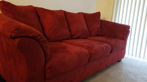Comfy Ruby Red Sofa! for Sale in Lynchburg, VA