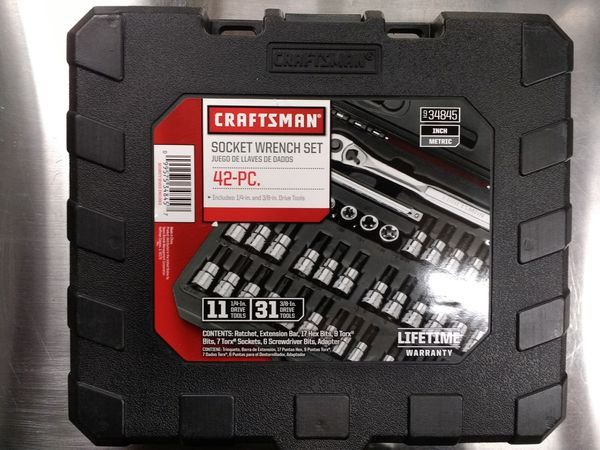 795647c75ee Craftsman 42 piece 1 4 and 3 8-inch Drive Bit and Torx Bit Socket Wrench Set