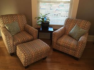 Arm Chairs (2) with Ottoman for Sale in Denver, CO