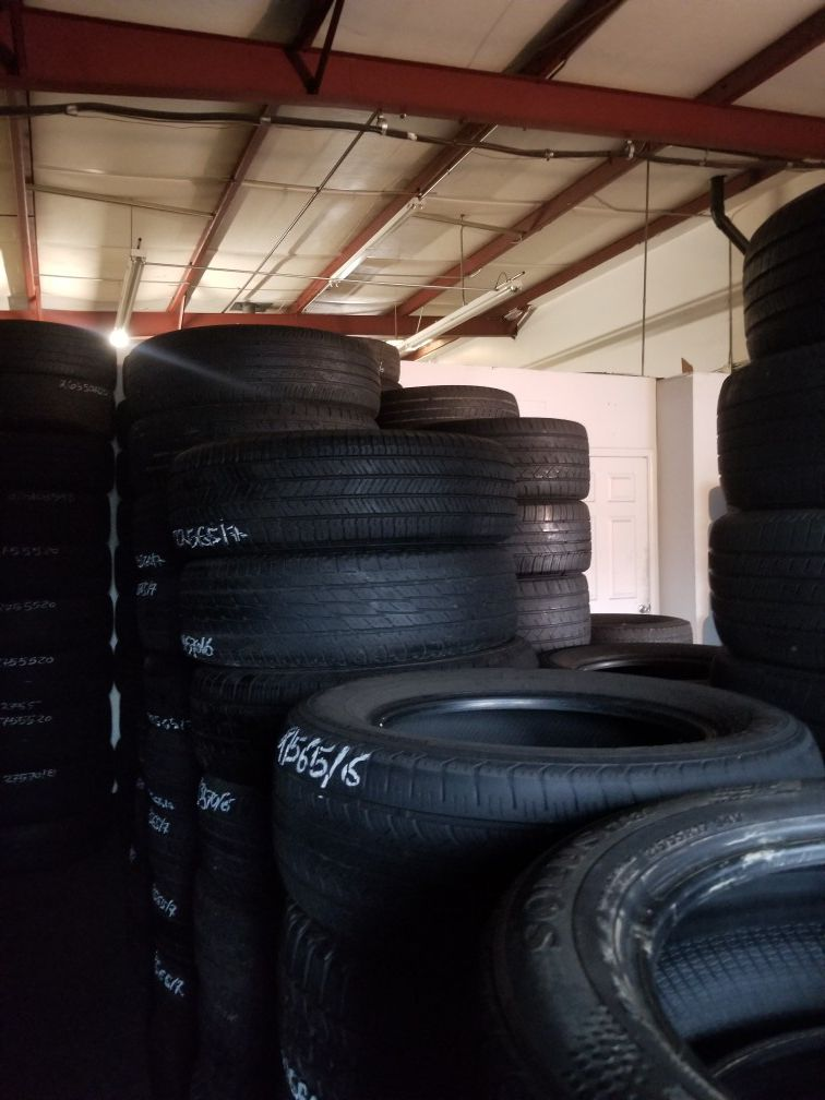 offer of used tires of all sizes