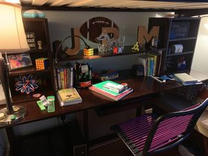 Coaster cappuccino bunk bed desk combo (1 year old- like new) for Sale in Alexandria, VA