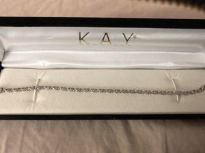 Photo Diamond Tennis bracelet in 10Kt white gold