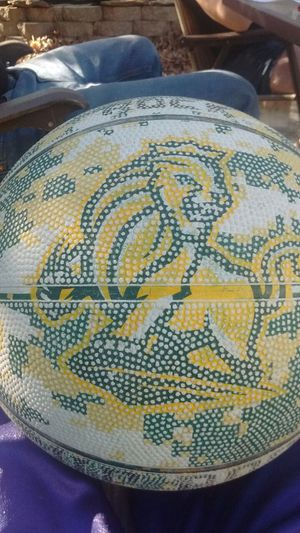 It a rare Rock basketball with a lion and a camo print for Sale in Apex, NC