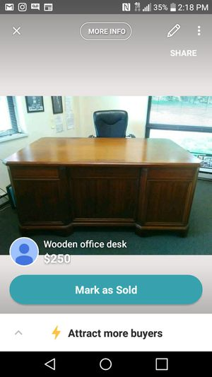 Wood Office Work Desk For In Columbia Md