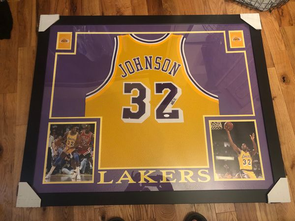 size 40 e26a4 d76a5 Autographed Magic Johnson jersey framed for Sale in Medical Lake, WA -  OfferUp