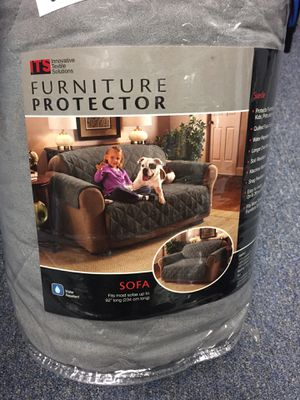 "Sofa furniture protector 110""x75.5"" water repellent- gray for Sale in Simpsonville, SC"