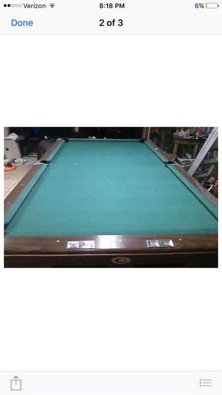 Gandy Foot Pool Table Mint Save Moving For Sale In Bridgeport - Pool table movers ct
