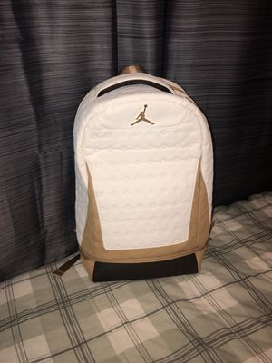 Jordan Retro 13 BackPack (White and Gold) for Sale in Houston 7d717dfa8f534