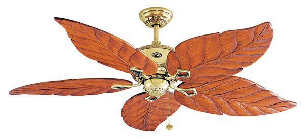Hampton Bay 56 Inch Antigua Flemish Brass Ceiling Fan For