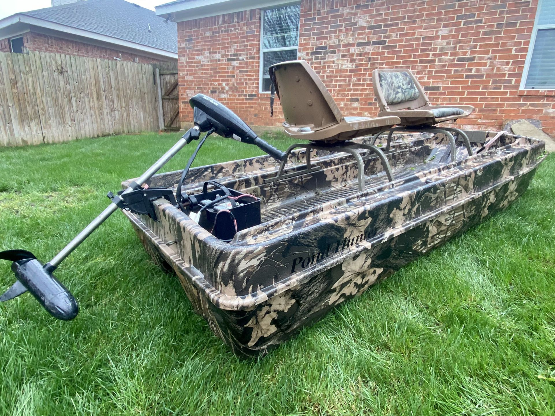 Photo 9ft Pond Hunter Bass Boat With Trolling Motor