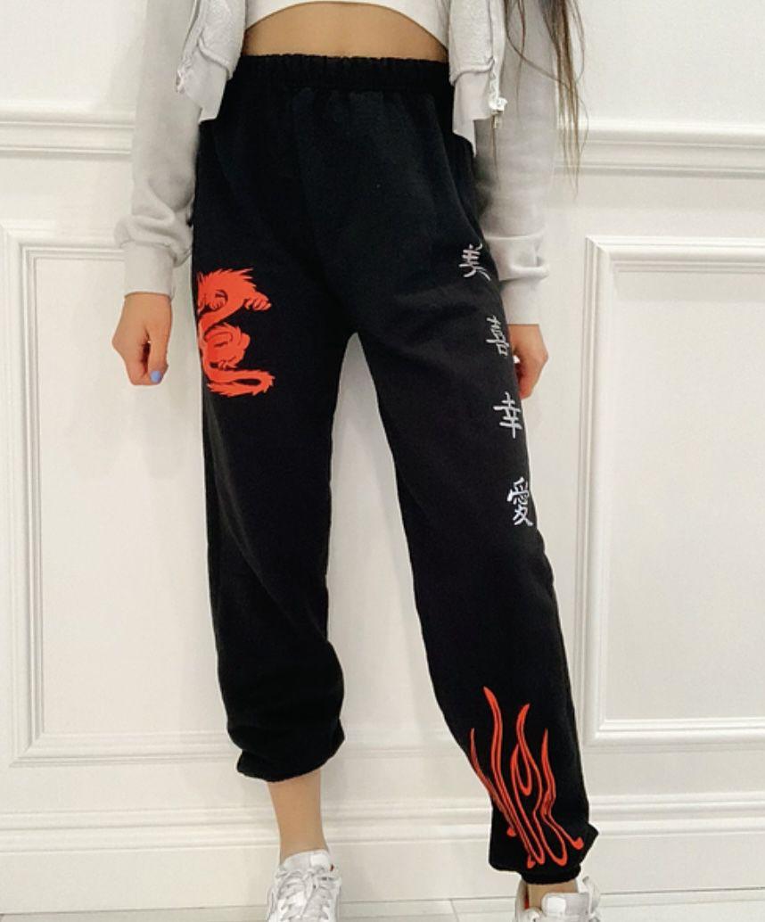 Unisex  Dragon Sweatpants  With Reflective Symbols