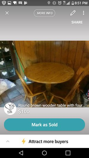 With matching 4 chairs for Sale in Fairfax, VA