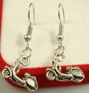 1 Pair of Women's Scotter Moped Motorcycle Dangle Drop Shepherds Hook Earrings NEW for Sale in Torrance, CA