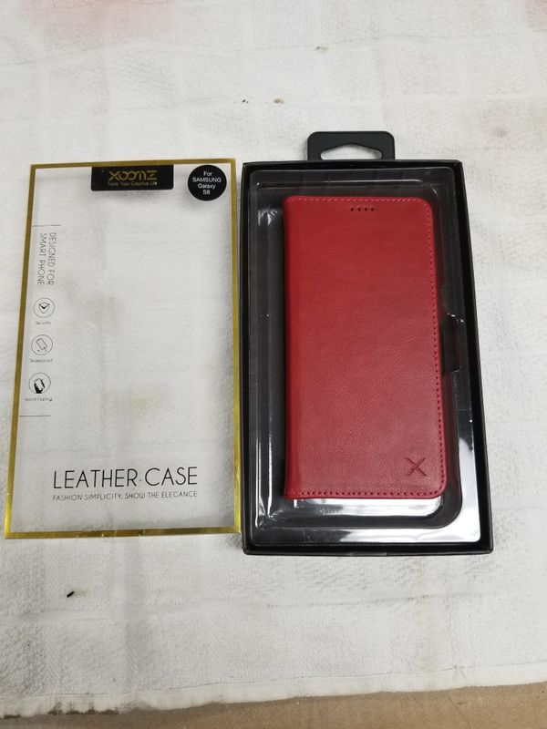 best service ac9b9 0b2a8 Xoomz red leather case brand new for Sale in Tampa, FL - OfferUp