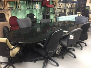 Office Furniture Gray Marble Ft Racetrack Conference Table For - Conference table miami