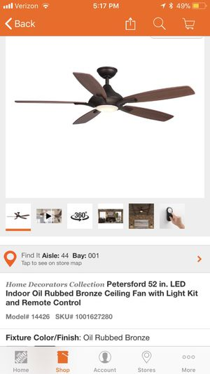 New Home Decorators Collection Petersford 52 Led Indoor Oil Rubbed Bronze Ceiling Fan W Remote Control For Sale In Sunland Tujunga Ca Offerup