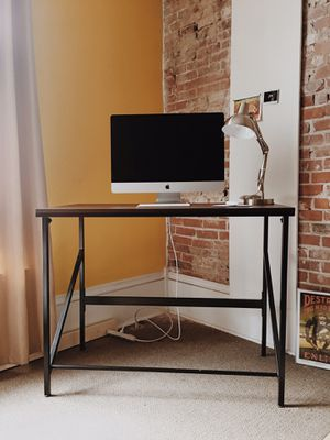 Standing Work Desk & Stainless steel lamp for Sale in Columbus, OH