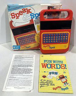 Vintage Texas Instruments Speak & Spell w/Box & Instructions Thumbnail