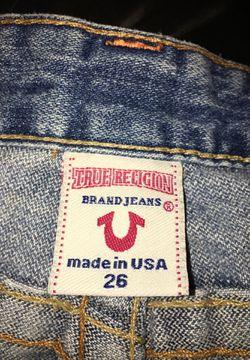True religion denim shorts Thumbnail