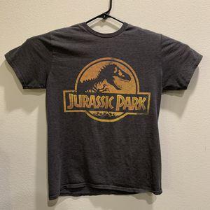 Photo Vintage Jurassic Park T-Shirt Gray Men Size L