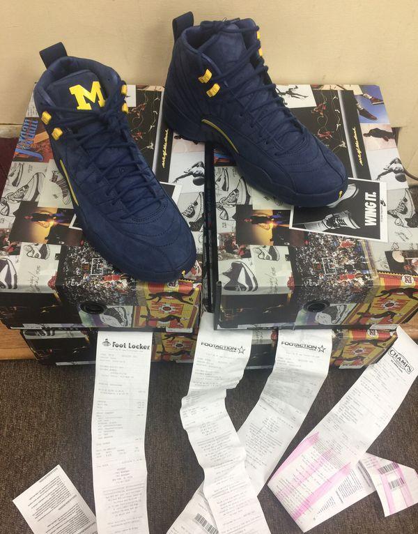 df0881962ee Nike Air Jordan 12 XII Retro Michigan PE College Navy Amarillo BQ3180-407  Brand New Size: 9-9.5- 10-10.5 -11 -11.5 -12