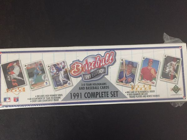 1991 Upper Deck Complete Set Baseball Cards Unopened Factory Sealed For Sale In Fort Worth Tx Offerup