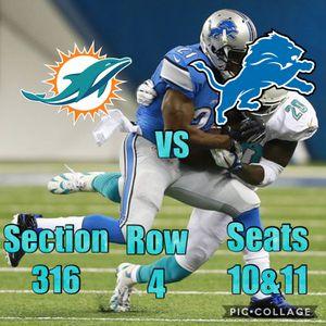 Detriot Lions vs Miami Dolphins for Sale in Detroit, MI
