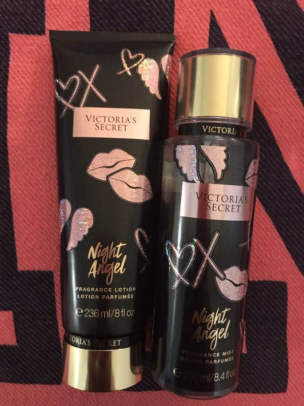 cdec2a7551 Victoria s Secret Night Angel Body Spray Fragrance Mist Body Lotion Gift Set