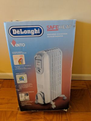 DeLonghi Oil Filled Electric SafeHeat Slim Radiator Portable Heater for Sale in Lincolnia, VA