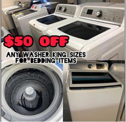 washing machine and dryer in angel appliances you will find this product at a great price and with the best machine, we have new and used, colors and Thumbnail