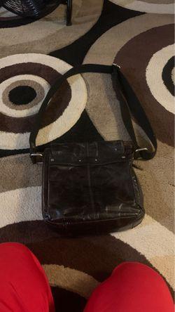 Men's black leather Fossil bag Thumbnail