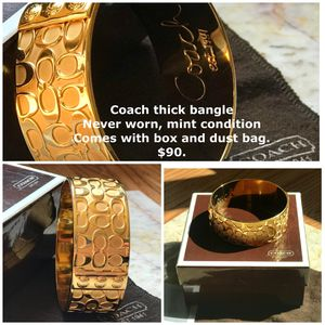 Coach thick bangle. Authentic. Never worn. for Sale in Rockville, MD